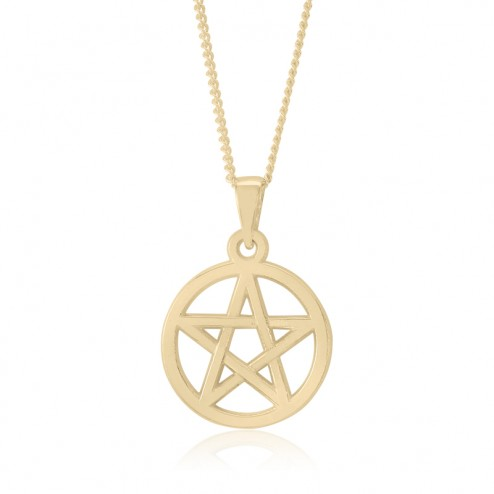 10K Yellow Gold Pentacle Pendant