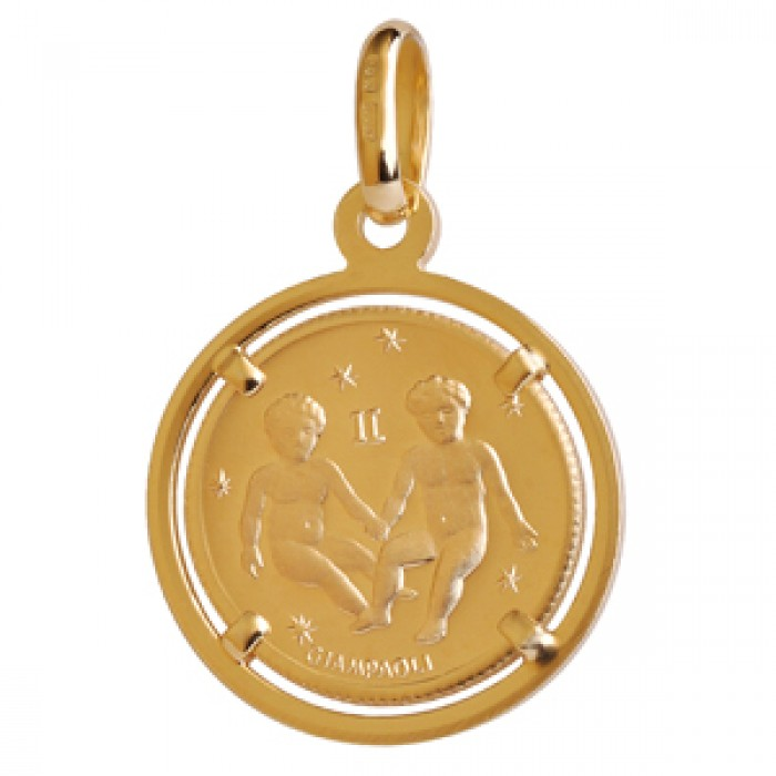 gold metallic in loft pendant jewelry lyst gemini necklace