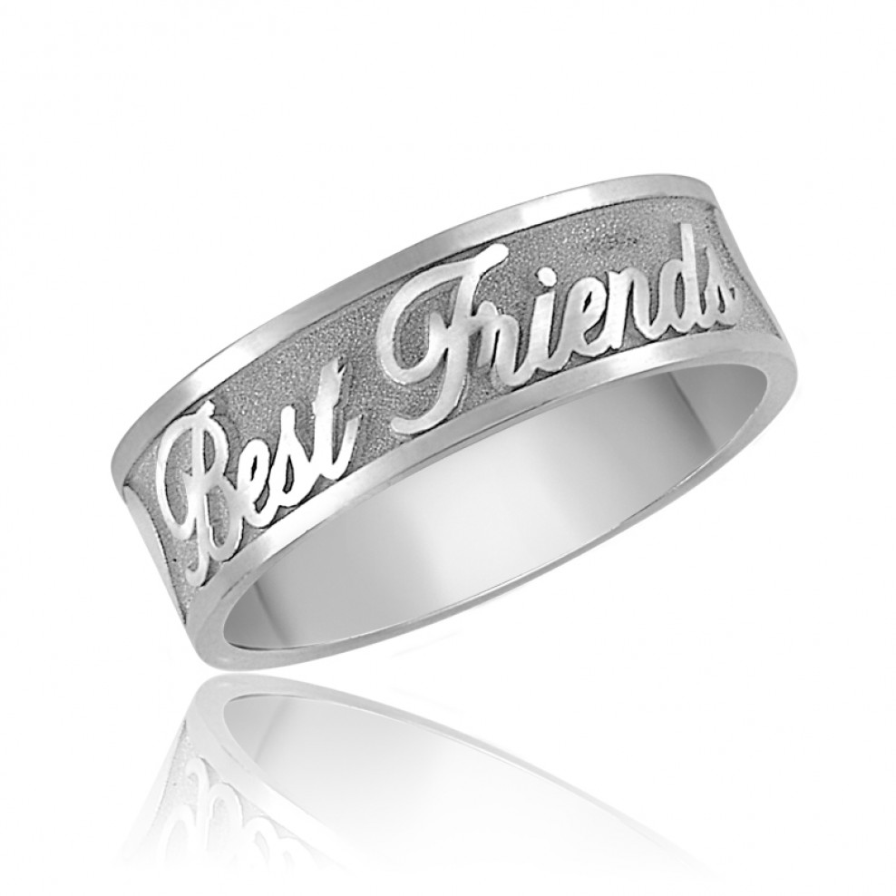 Sterling Silver Best Friends Ring