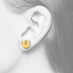10mm-14K Yellow Gold Ball Studs