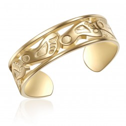 10K Yellow Gold Footprint Design Toe Ring
