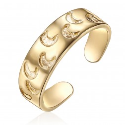 10K Yellow Gold Moon Design Toe Ring