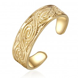 10K Yellow Gold Stylish Toe Ring