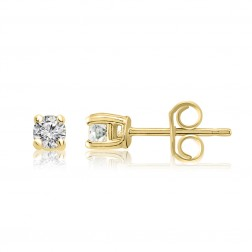 10K Yellow Gold 3mm Birthstone Stud Earrings