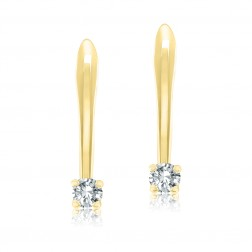 10K Yellow Gold 3mm Birthstone French Back Earring