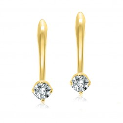 10K Yellow Gold 4mm Birthstone French Back Earring