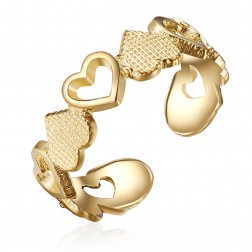 10K Yellow Gold Heart Toe Ring