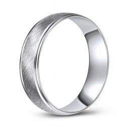 Matte 10K White Gold Wedding Band