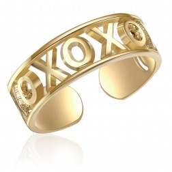 10K Yellow Gold Love Toe Ring