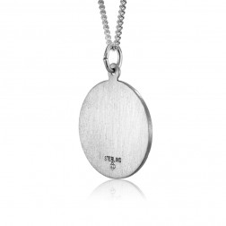 Sacred Hearth of Jesus 22mm Sterling Silver Pendant Charm