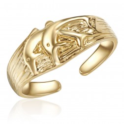 10K Yellow Gold Dolphin Design Toe Ring