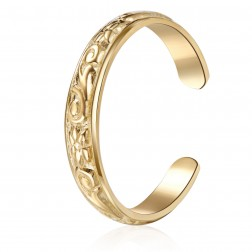 10K Yellow Gold Floral Toe Ring