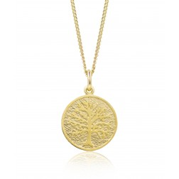Family Tree Pendant in 10K Yellow Gold - 16mm