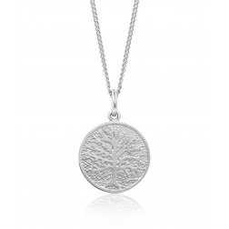 Family Tree Pendant in Sterling Silver - 16mm