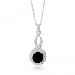 Sterling Silver Celtic Pendant with Onyx