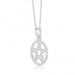Sterling Silver Pentacle Star Pendant