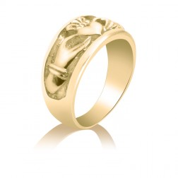 Claddagh Promise Ring – Wedding – Engagement – Love – Loyalty – Friendship – 10K Yellow Gold