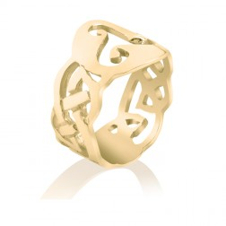 10K Yellow Gold Celtic Triskele Ring