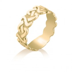 10K Yellow Gold Celtic Knot Wedding Band