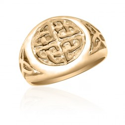 10K Yellow Gold Celtic Infinity Sun Ring