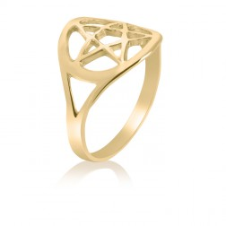 10K Yellow Gold Celtic Star Ring