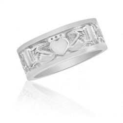 Men's Fenian Claddagh Ring in Sterling Silver