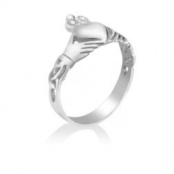 10K White Gold Celtic Ring