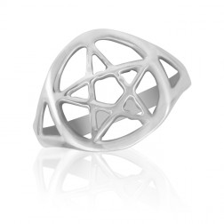 10K White Gold Celtic Star Ring