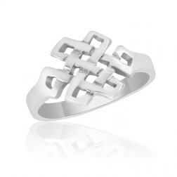 10K White Gold Celtic Knot Ring