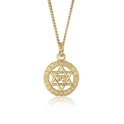 10K Yellow Gold Jewish Star Pendant