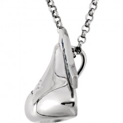 HERSHEY'S KISSES® Sterling Silver March Cubic Zirconia Pendant