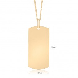 16x35mm Curved End Rectangle Dog Tag