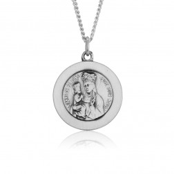 Sterling Silver Saint Anne De Beaupre Pendant