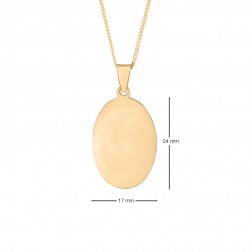 17x24mm 10K Yellow Gold Oval Dog Tag
