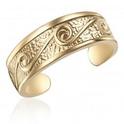 10K Yellow Gold Swirl Toe Ring
