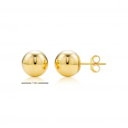 14K Yellow Gold Ball Studs - 7mm