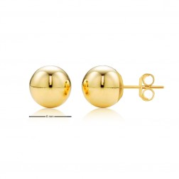 14K Yellow Gold Ball Studs - 8mm