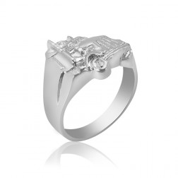 Sterling Silver Men's Truck Ring