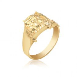 10K Yellow Gold Men's Truck Ring