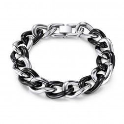 Mens Stainless Steel Curb Bracelet