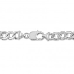 Silver Men's Medical ID Bracelet
