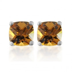 Antique Genuine Citrine Studs