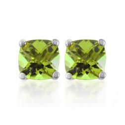 Antique Genuine Peridot Studs