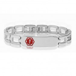 Ladies Stainless Steel Medical ID Bracelet