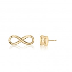 10K Yellow Gold Infinity Stud Earring