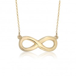 10K Yellow Gold Infinity Necklace