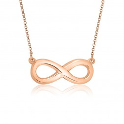 10K Pink Gold Infinity Necklace