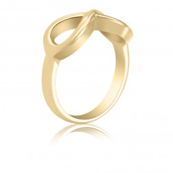 10K Yellow Gold Infinity Ring