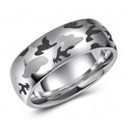 Camouflage Cobalt Wedding Band