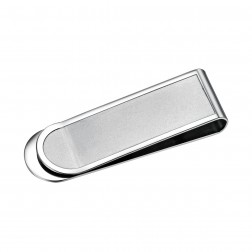 Slim Brushed Stainless Steel Money Clip